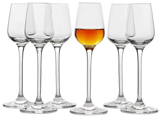 Grappaglas-Set 6-teilig - Klar, Basics, Glas (21/20/14cm) - Leonardo