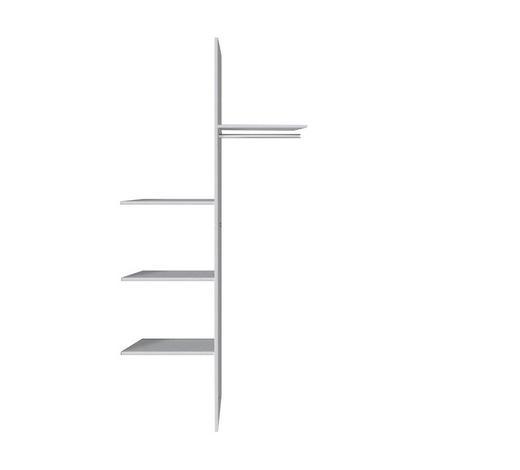 INNENEINTEILUNG in   - Silberfarben/Grau, Design, Holzwerkstoff (100/216cm) - Hom`in