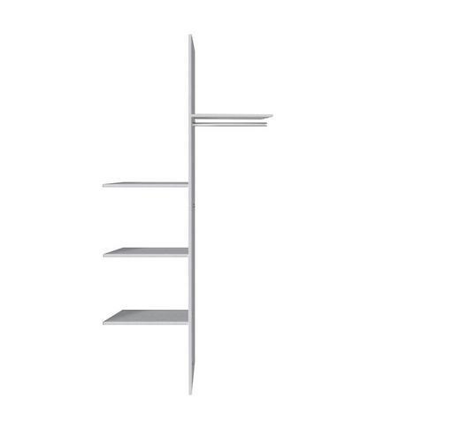 INNENEINTEILUNG für 100er Elemente Grau, Silberfarben - Silberfarben/Grau, Design (100/216cm) - Hom`in