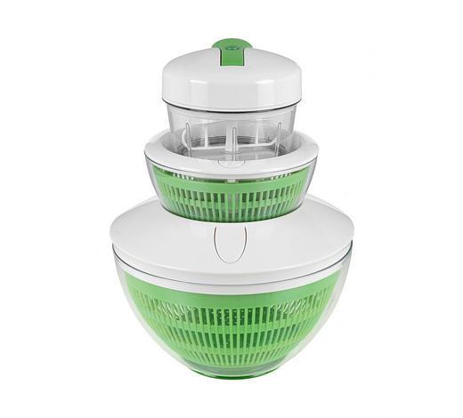 Salatschl. Inkl. Quirleinsatz - Klar/Weiß, KONVENTIONELL, Kunststoff/Metall - Homeware