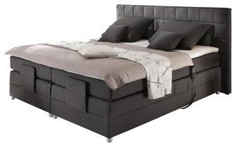 BOXSPRING KREVET - antracit/boje aluminija, Design, drvni materijal/tekstil (200/111,5/207cm) - NOVEL
