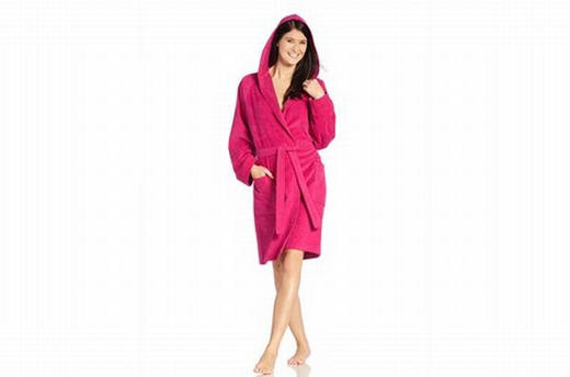 BADEMANTEL M - Pink, Basics, Textil (M) - Vossen