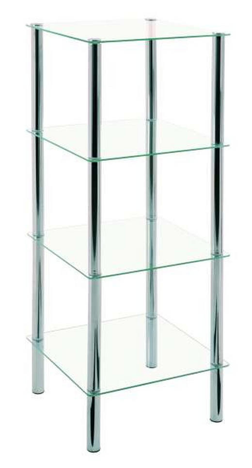 REGAL Klar - Klar/Chromfarben, Design, Glas/Metall (39/107/39cm)