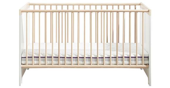 GITTERBETT Antonia  - Eschefarben/Hellgrau, Design, Holzwerkstoff (143/83/78cm) - My Baby Lou