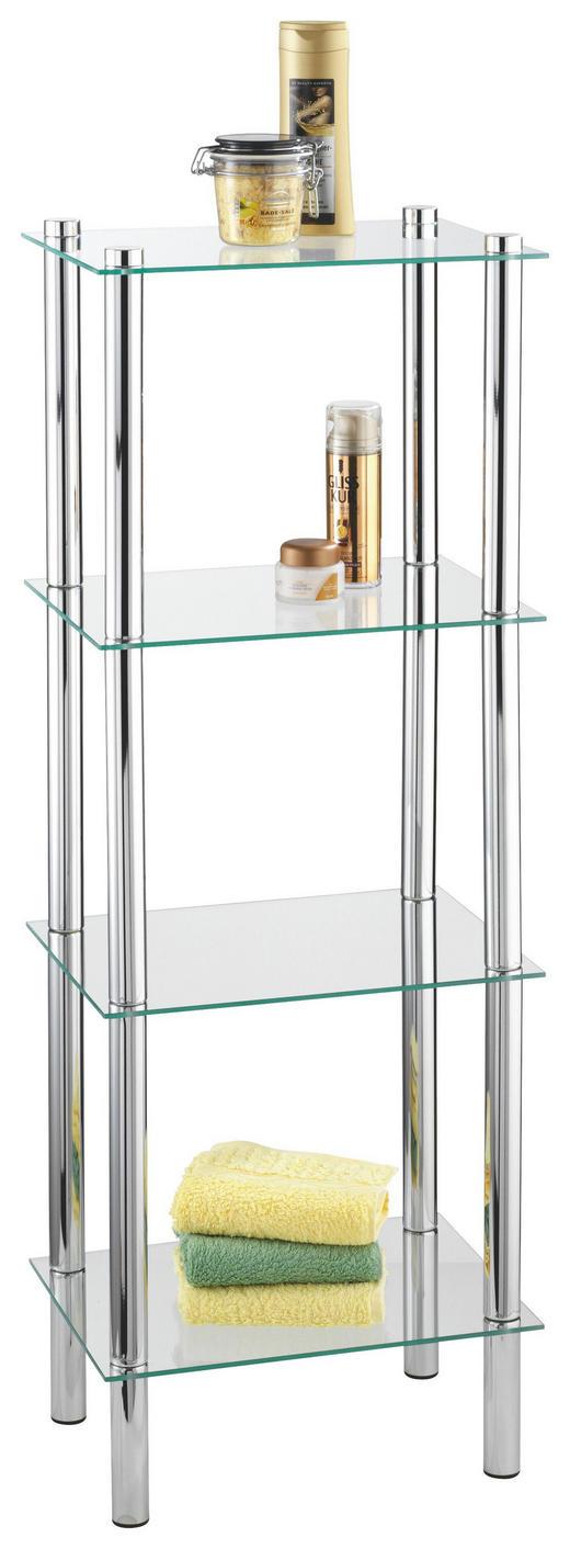 BADEZIMMERREGAL Glas, Metall Chromfarben - Chromfarben, Design, Glas/Metall (40/30/104cm)