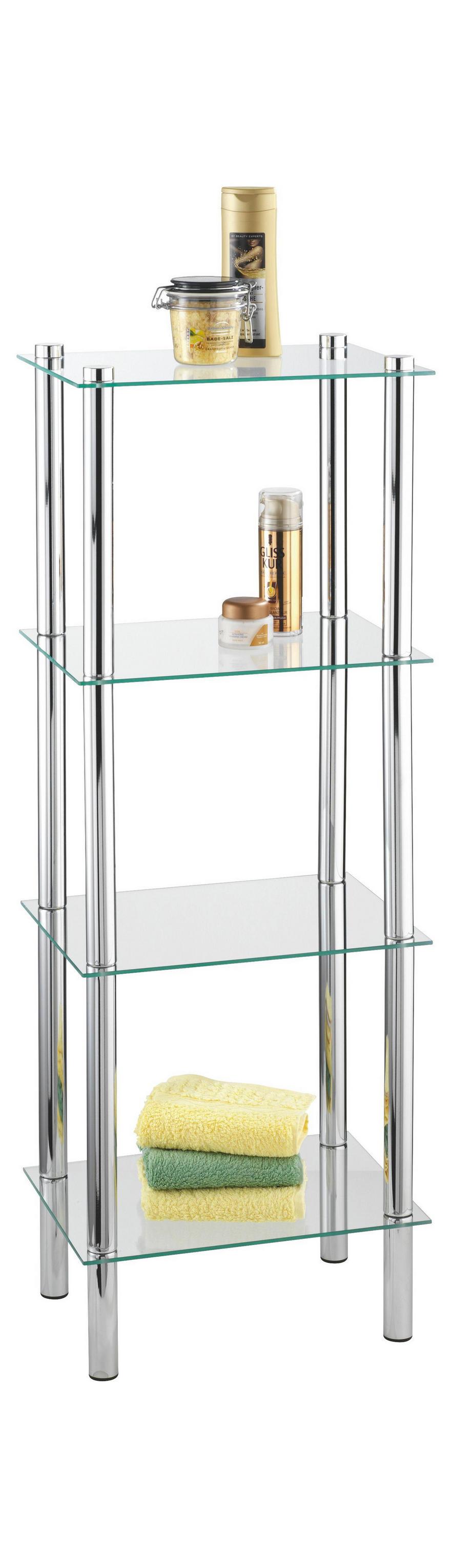 Badezimmer Regal Glas Chrom