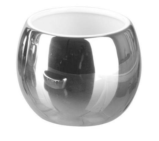 MUNDSPÜLBECHER Keramik - Edelstahlfarben, Basics, Keramik (9/7.5cm)