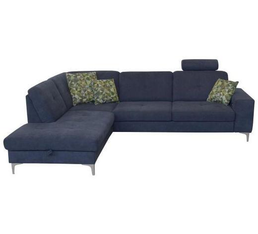 WOHNLANDSCHAFT in Textil Grau  - Chromfarben/Grau, Design, Textil (215/277cm) - Xora