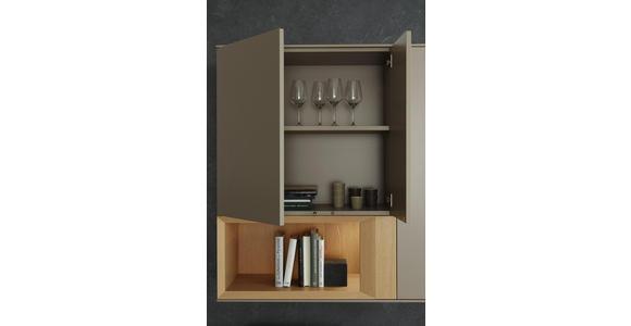WOHNWAND in Anthrazit, Grau, Eichefarben  - Eichefarben/Anthrazit, Design, Holz/Holzwerkstoff (300/198/47cm) - Dieter Knoll