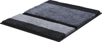 BADTEPPICH  Anthrazit, Grau, Silberfarben  60/60 cm     - Anthrazit/Silberfarben, KONVENTIONELL, Kunststoff/Textil (60/60cm) - Ambiente