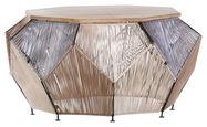 COUCHTISCH in Holz, Metall, Textil 85/85/45 cm - Multicolor/Schwarz, Design, Holz/Textil (85/85/45cm) - Carryhome