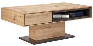 COUCHTISCH rechteckig Grau, Eichefarben  - Eichefarben/Grau, Design (115/65/44cm) - Hom`in