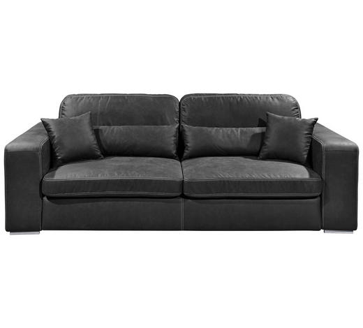 MEGASOFA Anthrazit - Anthrazit/Silberfarben, KONVENTIONELL, Kunststoff/Textil (250/92/127cm) - Carryhome
