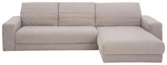 WOHNLANDSCHAFT in Hellgrau Textil - Hellgrau/Schwarz, Design, Textil (312/195cm) - Pure Home Lifestyle