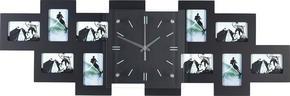 FOTOKLOCKA - svart, Basics, trä/glas (80/26/4,8cm) - Boxxx