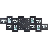 SAT ZA FOTOGRAFIJE - crna, Basics, staklo/drvo (80/26/4,8cm) - Boxxx