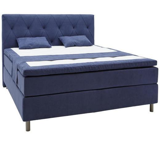 BOXSPRINGBETT 140/200 cm  in Blau  - Blau/Grau, KONVENTIONELL, Holz/Textil (140/200cm) - Elegando
