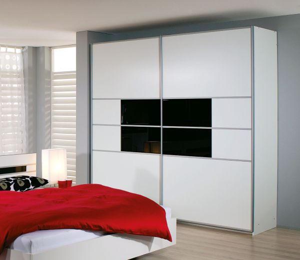SKŘÍŇ S POSUVNÝMI DVEŘMI - bílá/černá, Design, kov/dřevěný materiál (226/223/67cm) - CARRYHOME
