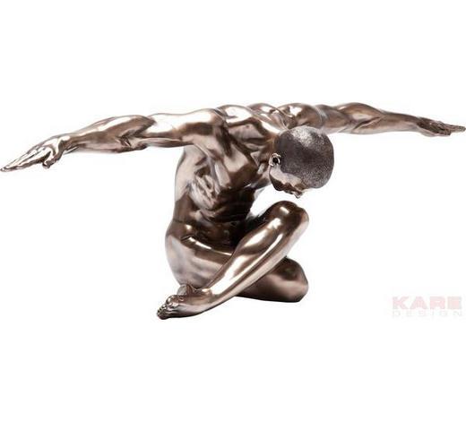 DEKOOBJEKT - Bronzefarben, Design, Kunststoff/Metall (137/40/47cm) - Kare-Design