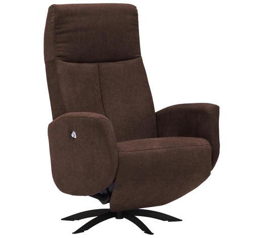 RELAXSESSEL in Textil Braun - Schwarz/Braun, Design, Textil/Metall (74/105/72cm) - Welnova