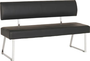 SITTBÄNK - kromfärg/svart, Design, metall/textil (150/88/47cm) - Carryhome