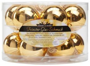 JULGRANSKULOR SET - guldfärgad, Lifestyle, glas (6cm)