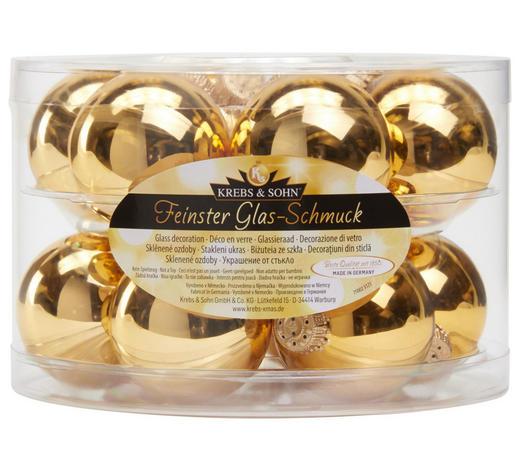 SADA VÁNOČNÍCH KOULÍ - barvy zlata, Lifestyle, sklo (6cm)