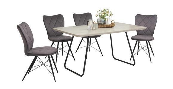 STUHL in Metall, Textil Grün, Schwarz - Schwarz/Grün, Design, Textil/Metall (49/90/61cm) - Hom`in