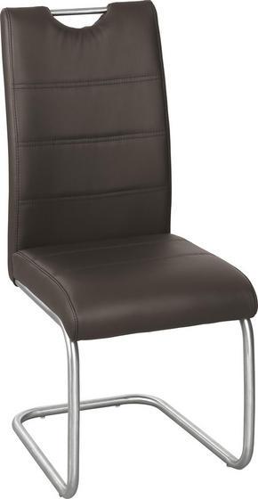 SVIKTSTOL - brun/rostfritt stål-färgad, Design, metall/textil (43/98/58cm) - Xora