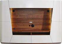WOHNWAND in Nussbaumfarben, Sandfarben  - Sandfarben/Nussbaumfarben, Design, Holz/Holzwerkstoff (300/205/52cm) - Ambiente