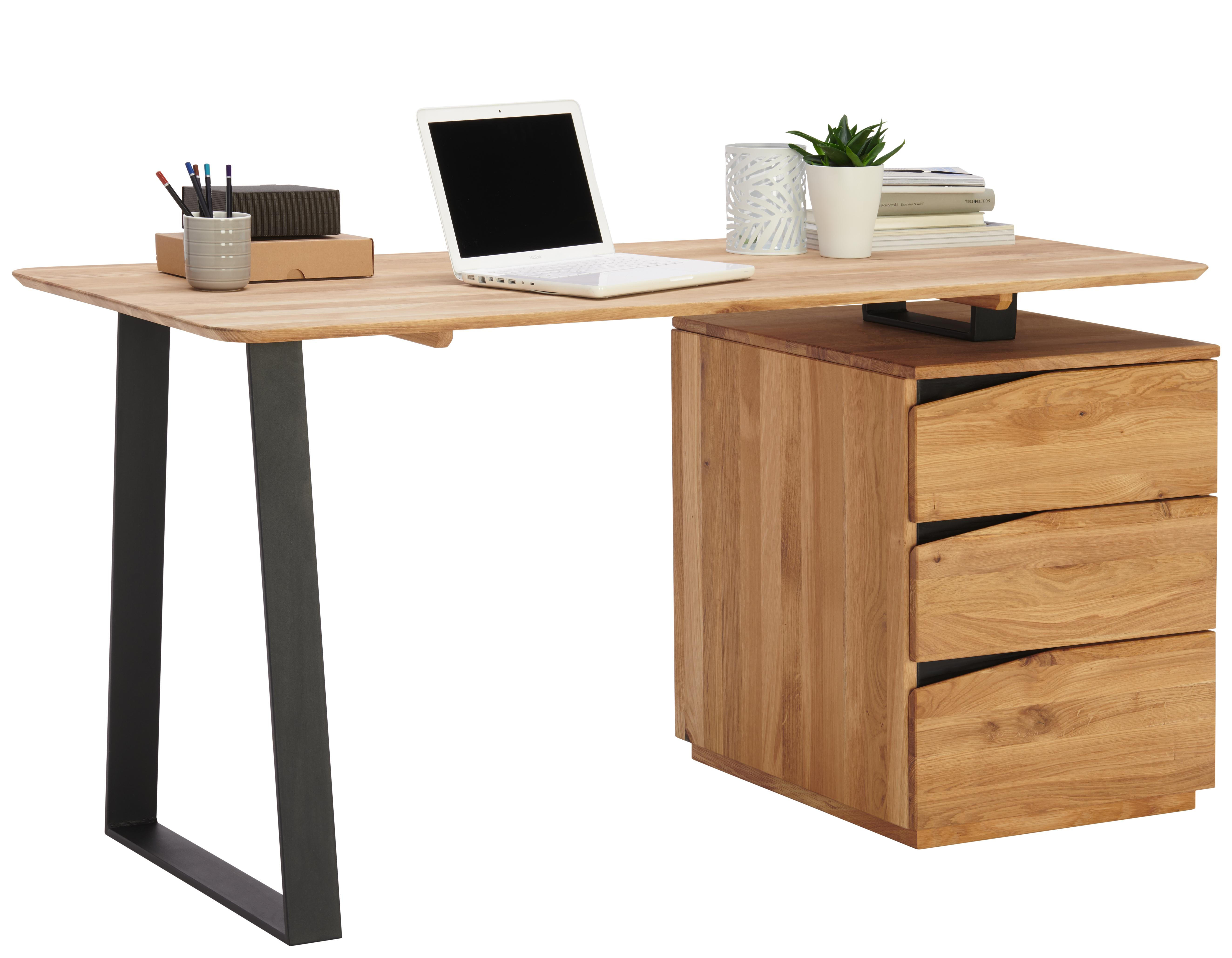 Schreibtisch Aus Wildeiche Und Metall Jetzt Kaufen