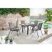 GARTENTISCH 70(140)/70/75 cm - Anthrazit, Design, Glas/Metall (70(140)/70/75cm) - Ambia Garden