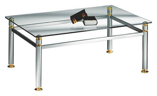 COUCHTISCH rechteckig - KONVENTIONELL, Glas/Metall (120/48/80cm) - Novel