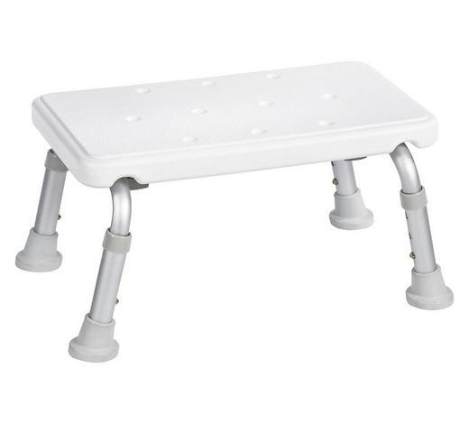 BADHOCKER Metall, Kunststoff - Weiß/Grau, Basics, Kunststoff/Metall
