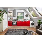 ECKKÜCHE E-Geräte, Spüle, Soft-Close-System   - Rot/Weiß, Design (275/190cm) - Xora