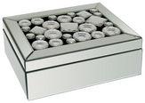 Schmuckbox - Klar/Silberfarben, Design, Glas/Holzwerkstoff (25,5/18,5/9,5cm) - Ambia Home