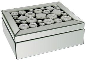 SMYCKESKRIN - klar/silver, Design, glas/träbaserade material (25,5/18,5/9,5cm) - Ambia Home