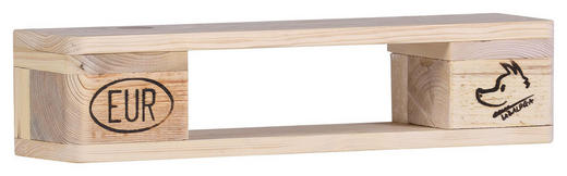 WANDREGAL massiv Naturfarben - Naturfarben, Trend, Holz (60/14/14cm) - Carryhome