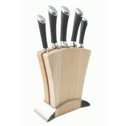 MESSERBLOCK 6-teilig - Edelstahlfarben/Naturfarben, Basics, Holz/Metall (0cm) - FISSLER