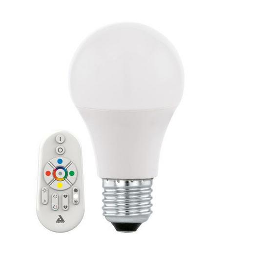 LED-LEUCHTMITTEL MIT FERNBED.  E27 9 W - Weiß, Basics, Metall (11,6cm)