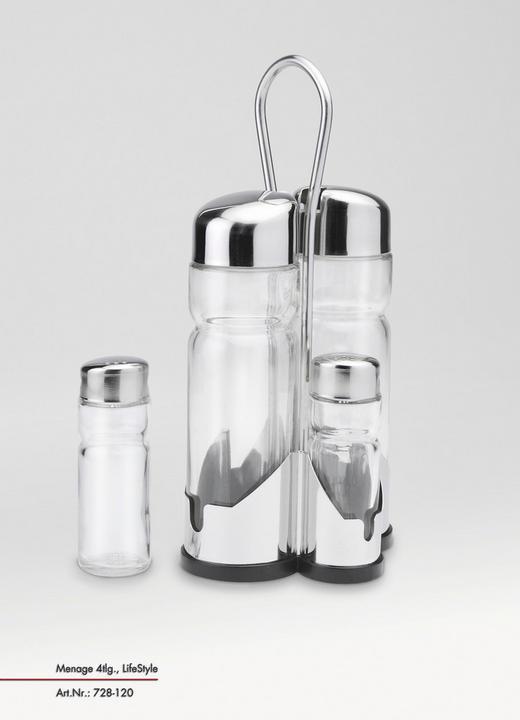 MENAGE-SET - Glas/Metall (22/11/10,5cm) - Justinus