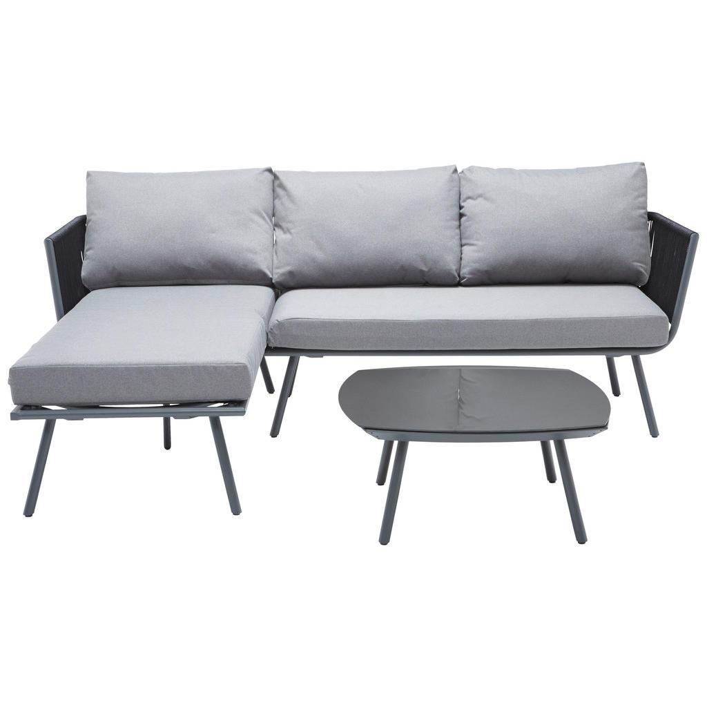 Ambia Garden Loungegarnitur grau aluminium