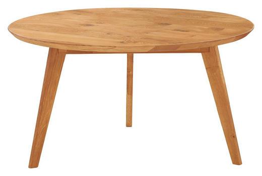 COUCHTISCH Kernbuche massiv rund - Design, Holz (90/90/47cm) - Linea Natura