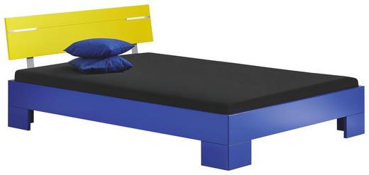 BETT 140/200 cm - Gelb/Dunkelblau, Design (140/200cm) - Xora