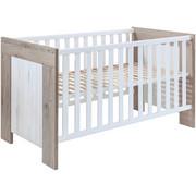 POSTÝLKA DĚTSKÁ - bílá/barvy dubu, Konvenční, dřevěný materiál (78/82/144cm) - My Baby Lou