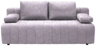 SCHLAFSOFA in Textil Hellgrau  - Hellgrau/Schwarz, MODERN, Kunststoff/Textil (198/87/92cm) - Xora