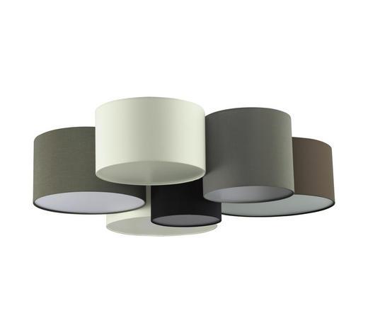 DECKENLEUCHTE - Schwarz/Braun, Design, Textil/Metall (99/28,5cm)