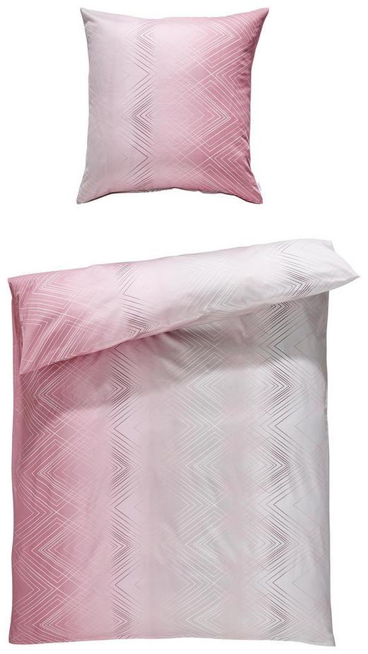 BETTWÄSCHE Makosatin Rosa - Rosa, Basics, Textil (155/220cm) - Estella