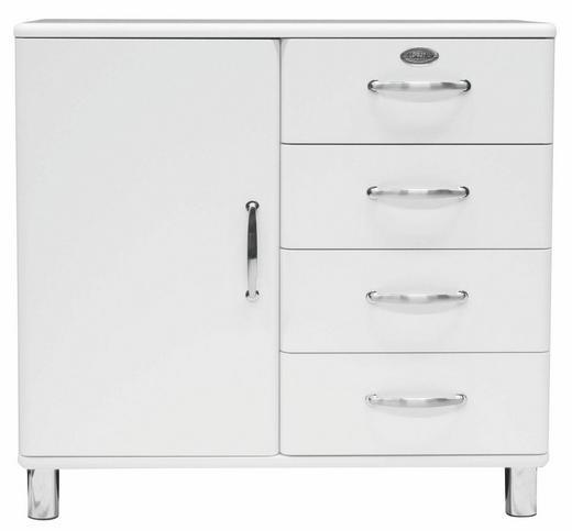 KOMMODE Weiß - Weiß/Nickelfarben, Design, Holzwerkstoff/Metall (98/92/41cm) - CARRYHOME