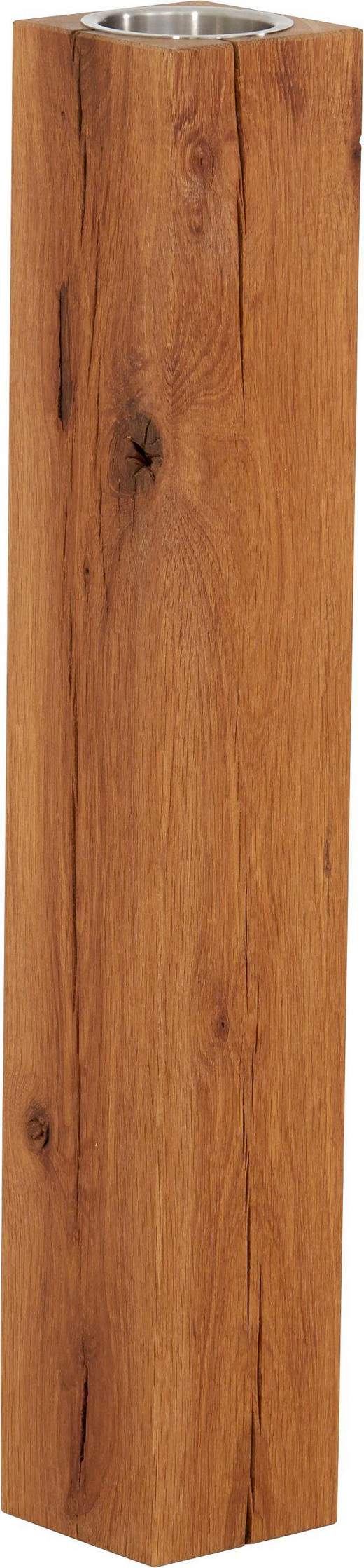 KERZENHALTER - Eichefarben, LIFESTYLE, Holz (14/80/14cm) - Linea Natura
